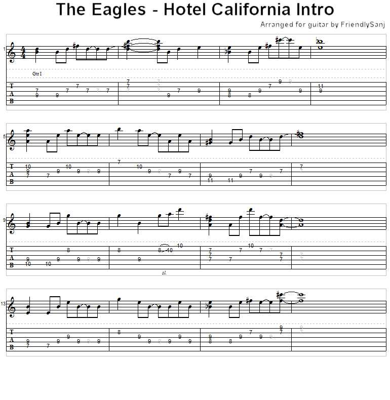 guitar tabs for hotel california » Music Sheets, Chords, Tablature ...